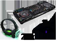 Silent disco set huren met dj set en 20 koptelefoons